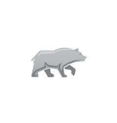big bear walking and looking for logo design vector image