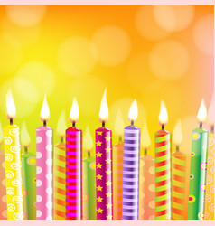 birthday card with candle vector image