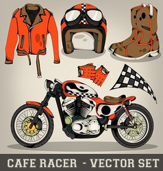Cafe Racer Set vector