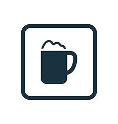 cappuccino icon Rounded squares button vector image