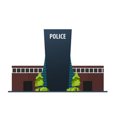 City police station department modern building in vector