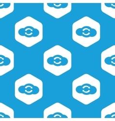 Cloud exchange hexagon pattern vector image