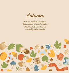 Colorful abstract autumn template vector