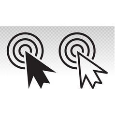 Computer mouse cursor clicks flat icon for apps vector