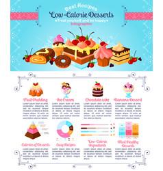 Dessert or sweet food infographics template vector