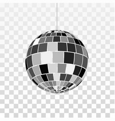 disco or mirror ball icon symbol nightlife retro vector image