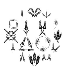 ear corn icons set simple style vector image