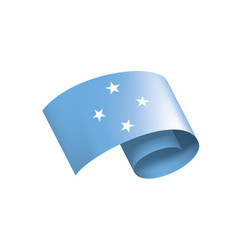 Federated states micronesia flag vector