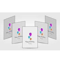 Few birthday cards with balloons vector