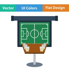 Flat Design Single football fans vector