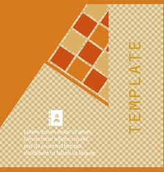 Flyer layout template brochure background set vector