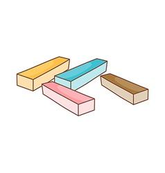 Four eraser vector