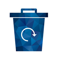 garbage recycle icon vector image