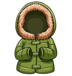 Green body warmer vector