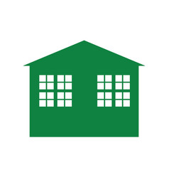 Green building symbol vector