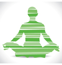 green yoga girl design with strip vector image
