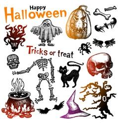 Halloween doodles vector image