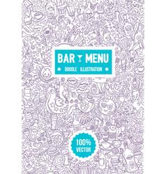 hand drawn of alcohol bar menu vector image