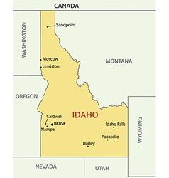 Idaho - map vector image