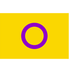 intersex flag vector image
