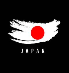 Japan flag brush logo template design vector