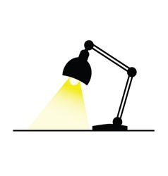 lamp with bulb color vector image