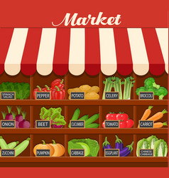 Local vegetable stall vector