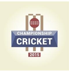 Logo template championship cricket vector