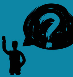 Man with question mark decision making concept vector