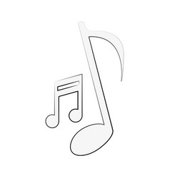 music notes symbol vector image