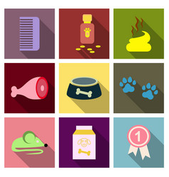 Pet care supply accessories and products vector