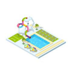 pool hotel recreation area resort vacation water vector image