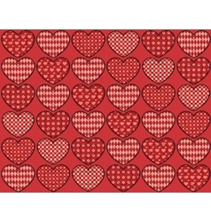 Quilt hearts seamless pattern vector image vector image