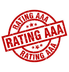 Rating aaa round red grunge stamp vector
