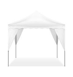 Realistic outdoor tent vector