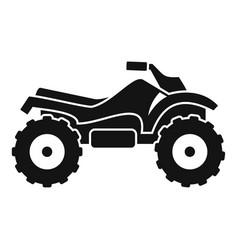 Ride quad bike icon simple style vector