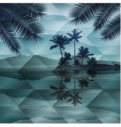 sea at night geometric background vector image