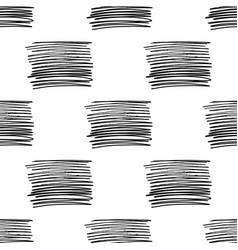 seamless pattern with brush stripes black vector image