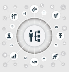 Set of simple success icons vector