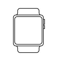 Smartwatch device isolated icon vector