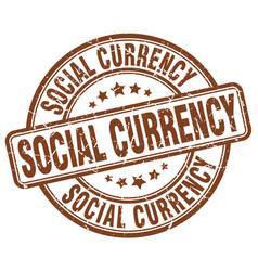 social currency brown grunge stamp vector image