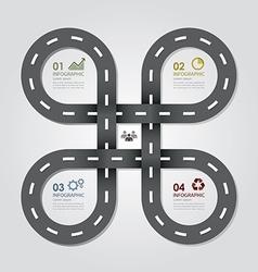 Street Road Business Infographics Design Template vector