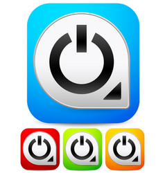 Stylish vivid power buttons for technology vector