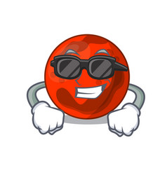 Super cool mars planet character cartoon vector