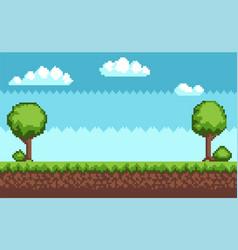 tree bush pixel style vector image