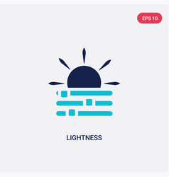Two color lightness icon from edit tools concept vector