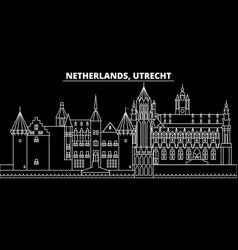 Utrecht silhouette skyline netherlands - utrecht vector
