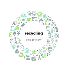 waste recycle line concept zero waste environment vector image