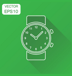 watch icon business concept clock in line style vector image