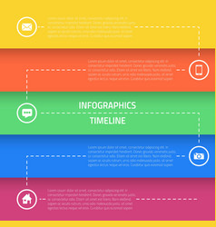 web infographic timeline template layout vector image